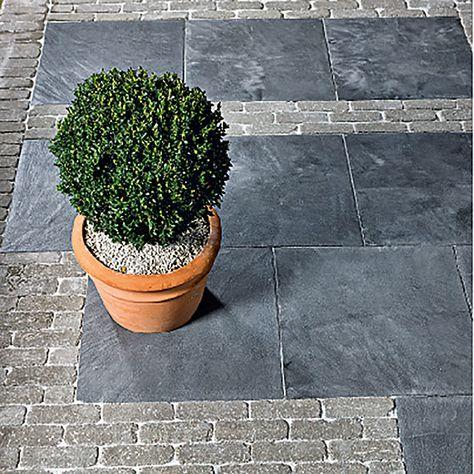 Riemchenpflaster 20 8x6 8x8cm Grau Pflastersteine Bauhaus Garten