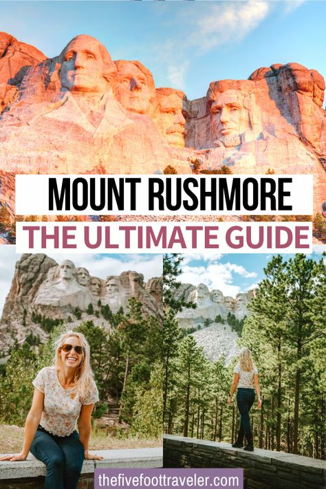 The Ultimate Guide to Mount Rushmore National Memorial - international travel Mont Rushmore, South Dakota Vacation, South Dakota Travel, Usa Travel Guide, Travel Usa, Travel Tips, Travel Guides, Keystone South Dakota, Mount Rushmore South Dakota