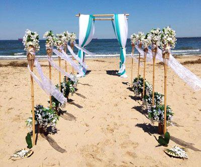 Bamboo Wedding Arch Chuppah