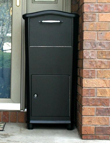 Architectural Mailbo Oasis Black Post Mount Or Column Locking Drop Box And Columns