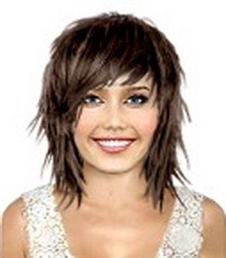 Výsledek obrázku pro sestříhané polodlouhé vlasy | Účesy | Pinterest ...