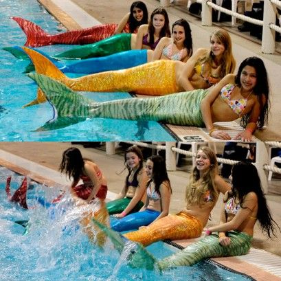 Wear - maybe not practical for the beach, or pool, or swimming in the sea..but it's Little Mermaid dream come true!