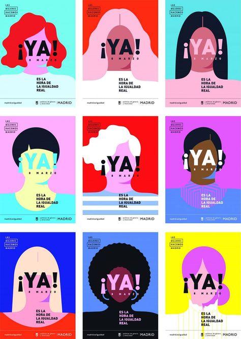International Women's Day Campaign posters by Madrid City Council and Nacho Padi. - International Women's Day Campaign posters by Madrid City Council and Nacho Padilla -