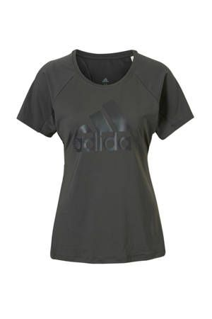 adidas performance sport T-shirt antraciet | wehkamp | T ...