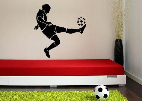 Football Player Sprint Vinyl Decal Sticker Laptop Car Boy Room Wall Window