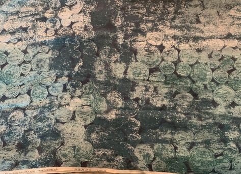 "Marimekko ""Tunturipollo"" linen fabric in dark teal, sold by the half yard"