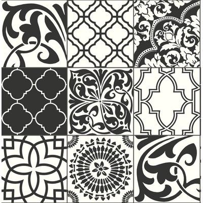 World Menagerie Oceane Graphic 216 L X 20 5 W Peel And Stick Wallpaper Roll Wayfair Marokkanische Fliese Fliesen Sticken