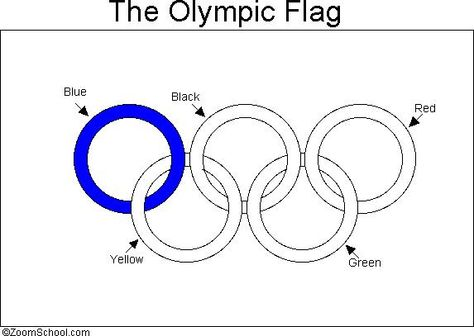 Onlajn Ocvetyavane Na Olimpijskiya Flag Flag Coloring Pages