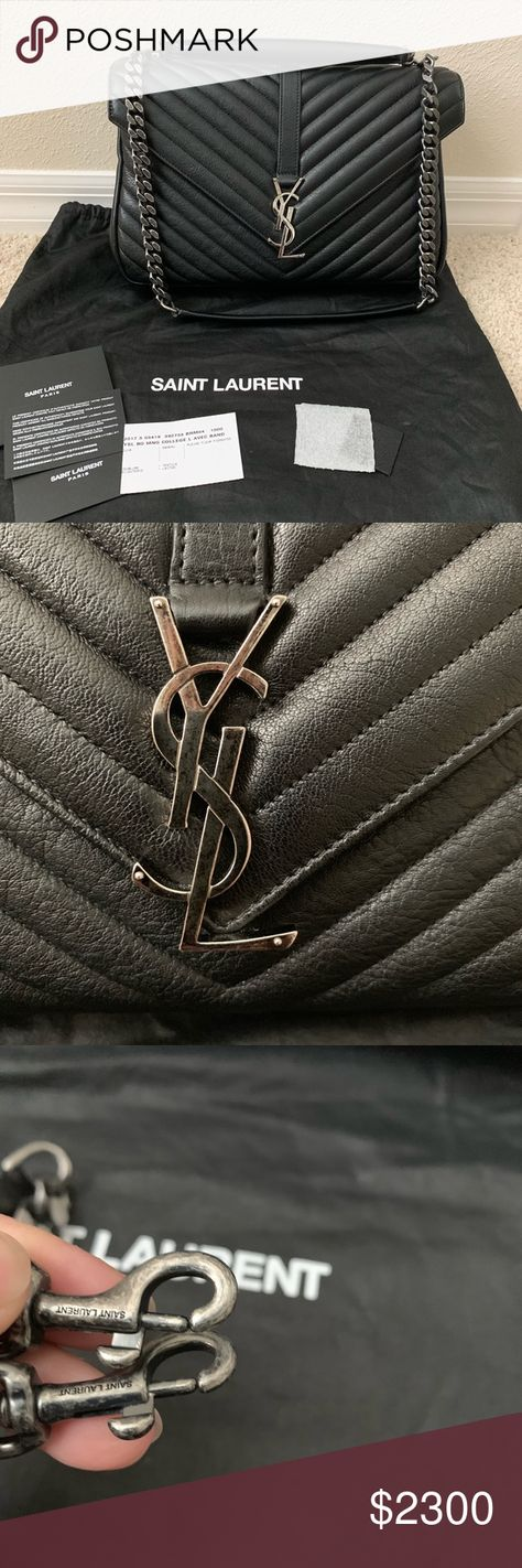 ca0d13bf34d Brand New YSL College Bag Large Brand new with authenticity cards large YSL  college bag with