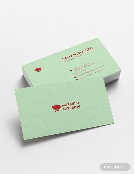 Catering Service Business Card Template Word Psd Apple Pages Illustrator Publisher Business Card Template Word Catering Business Cards Free Business Card Templates
