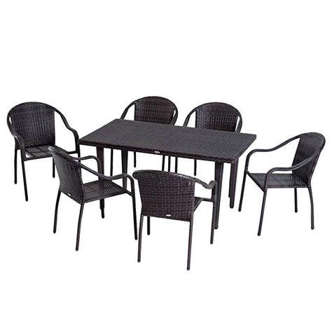 Tavolo Sedie Giardino Rattan.La Top 10 Tavolo Giardino Rattan Con Sedie Nel 2020 Furniture