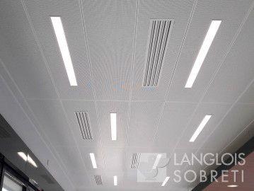 Plafond Suspendu Avec Intégré Dalles À Métalliques Luminaire YI6gbyvf7