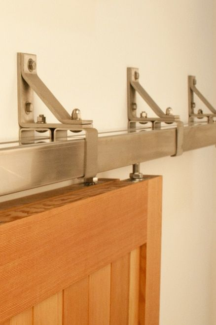 This Bypass Box Rail Sliding Hardware Can Hold A Door Up To 400 Lbs And Is Made From A So Bypass Barn Door Bypass Barn Door Hardware Rustic Interior Barn Doors