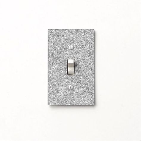 Elegant Silver Glitter Light Switch Cover Zazzle