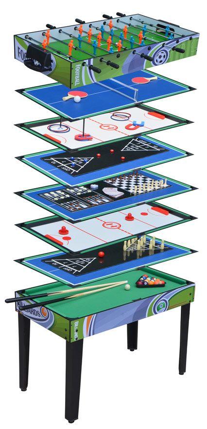 Table Multi Jeux 12 En 1 Jeux De Poker Billard Et Tennis De Table