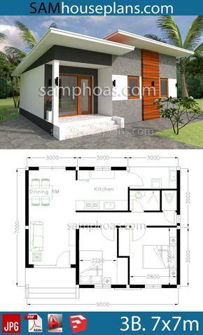 House Plans 8x12m With 4 Bedrooms Sam House Plans 2 Storey House Design Building Plans House Model House Plan