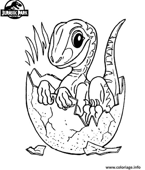 Coloriage Jurassic Park Dinosaure 24 Dessin à Imprimer