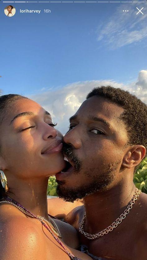 Michael B. Jordan and Lori Harvey's Romantic Vacation Photos