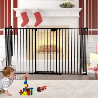 Fireplace Safety Fence Baby Fence Bbq Pet Metal Fire Gate Latch Lock Baby Safety Gate Fireplace Safety Safety Fence