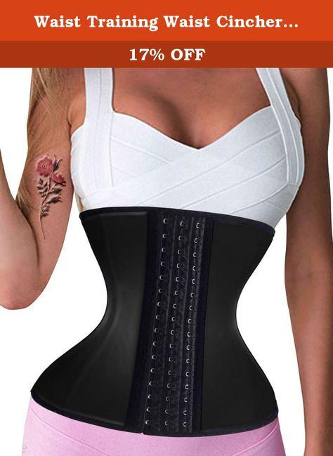 6c63f7ada8aa8 Waist Training Waist Cincher Corset Tummy Control Latex Sport Shaper (L (2-3