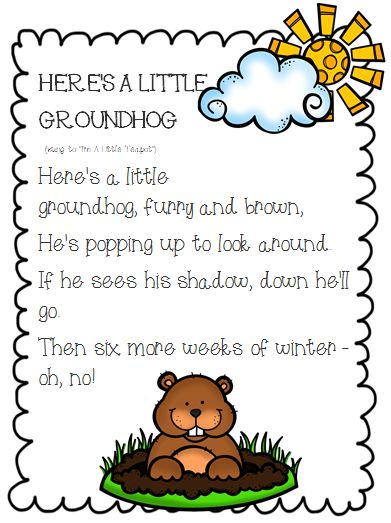 Very cute mini-unit on Groundhog's Day! Includes a groundhog craftivity, graphing, opinion writing, informative writing, finger puppets, Groundhog's Day Song, and teacher resources. Very cute and aligned to Common Core!!!!