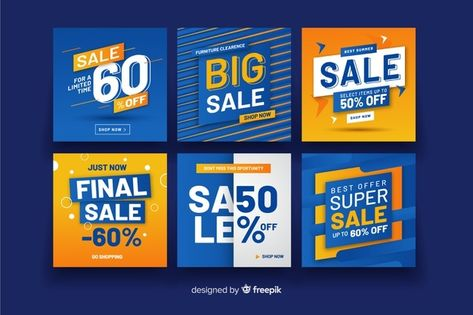 Set of sale banners Vector | Free Download