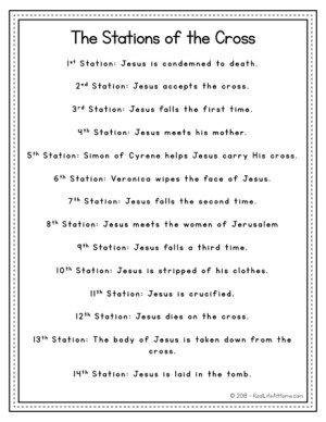 picture about Stations of the Cross Prayers Printable identified as 14 Stations of the Cross Checklist - Cost-free Very simple Lenten