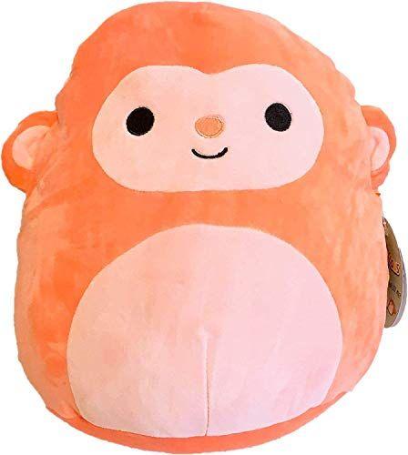 Squishmallow Kellytoy 12 Elton The Orange Monkey Plush Toy Kellytoy Squishmallow Animal Pillows Monkey Plush Animal Plush Toys