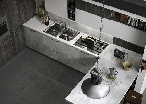 Cucina componibile con maniglie integrate FUN by Snaidero ...