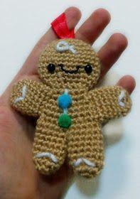 adorno navidad ganchillo patron gratis en español christmas ornament crochet free pattern spanish santa claus papa noel angel baston muñeco jengibre tambor acebo calcetin estrella campana muñeco nieve