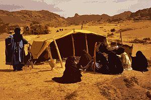 Algeria Painting Tuareg Camp In Southern Algeria By Anthony Dalton Outdoor Gear Outdoor Algeria