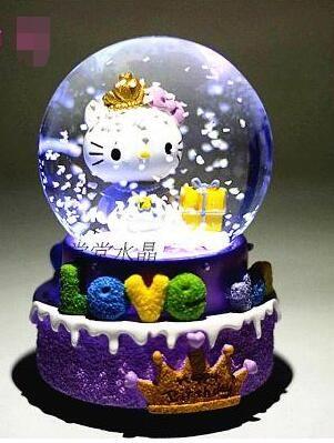 RONG-719 + crystal ball muziekdoos muziekdoos sneeuwvlok bestie creative…
