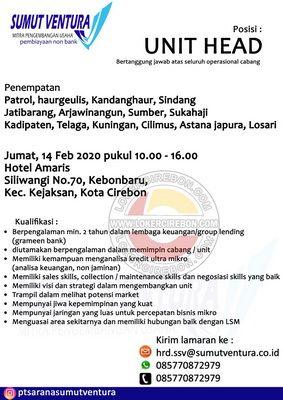 Lowongan Kerja Sumut Ventura Cirebon Indramayu Kuningan Di 2020