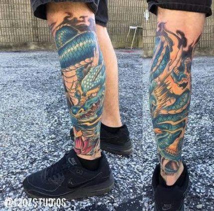 Tattoo Dragon Leg Sleeve 35 Ideas Japanese Leg Tattoo Dragon Tattoo Leg Leg Sleeve Tattoo