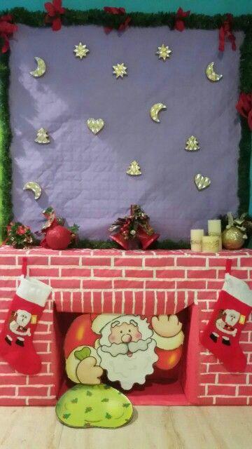 Chimenea de carton para Navidad Diy - enrHedando deco fiestas