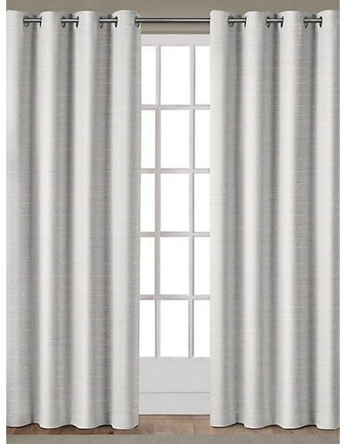 Home Outfitters Textured Curtain Panels White Paneling