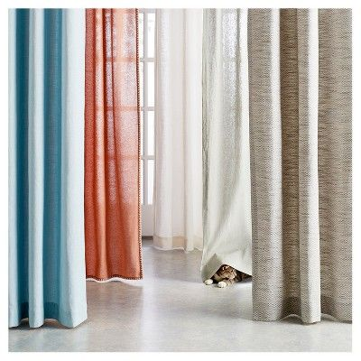 Natural Solid Light Filtering Curtain Panel Threshold In 2020