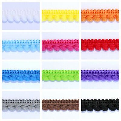 Mini Pom Pom Braid Fringe Trim Haberdashery Curtains Lampshades Sewing Crafts