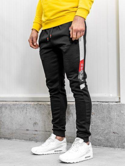 Spodnie Dresowe Meskie Czarne Denley Am63 Polished Man Summer Sale Mens Fashion