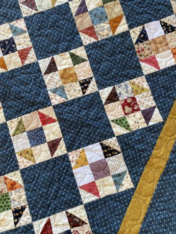 Scrappy Quilts, Easy Quilts, Small Quilts, Mini Quilts, Quilt Block Patterns, Pattern Blocks, Quilt Blocks, Half Square Triangles, Blue Square