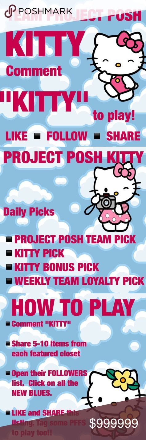 """🐱 The Project Posh Tram Kitty 🌷 🌹THE PROJECT POSH TEAM KITTY 🌹GAME  """"COME PLAY WITH ME""""  🐱 BE A DIVA KITTY 🐱  GAIN 100's of NEW FOLLOWERS  🌟DO YOU WANT A CHANCE TO BE A FEATURED CLOSET  🌟COMMENT """"KITTY """" TO PLAY  ●FOLLOW ME ●LIKE THE LISTING ●TAG SOME PFF's TO PLAY ALONG  ⚫TEAM PROJECT POSH PICK @ 👜FASHION KITTY PICK @ 💅BOUNS KITTY PICK @ 🐕TEAM LOYAL PLAYER PICK @  WANNA BE TEAM PICK? PLAY DAILY💕  HOSTED BY: @1andonlyplanet Jackets & Coats"""