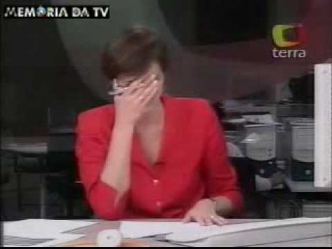 Lillian laughing broadcasting news