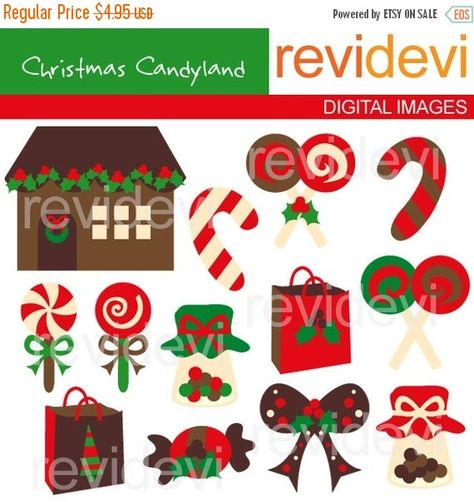 Christmas Candyland Clipart.45 Off Sale Christmas Candyland Commercial Use By