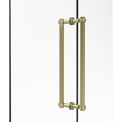 Allied Brass 404G 18BB Back To Back 18 In. Shower Door Pull With Grooved  Accents   404G 18BB ABR