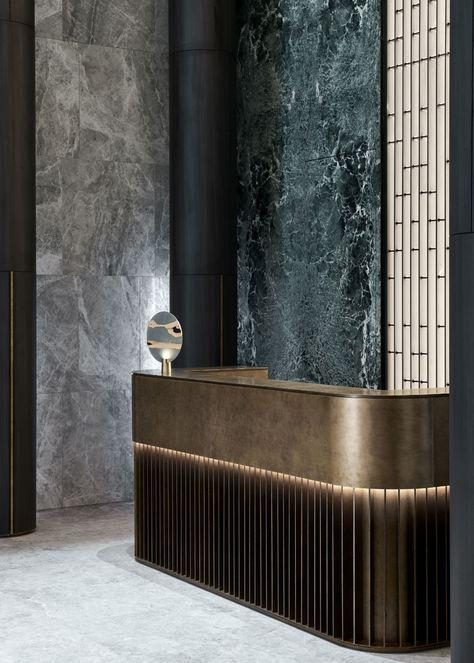 GongWang Sales Center - More Design Office. Lounge Design, Design Room, Design Café, Wall Design, Hotel Lounge, Bar Lounge, Lounge Decor, Lobby Lounge, Hotel Lobby Design