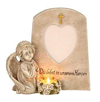 Grabschmuck aufgeschlagenes Buch mit Engel Aufschrift Foto Fenster Trauerstein
