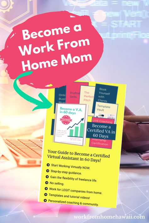 Make money working remotely for LEGIT companies. You have the skills already! No selling required! #virtualassistant #workfromhome #workfromhomemom #workfromhomemaui #workfromhomehawaii