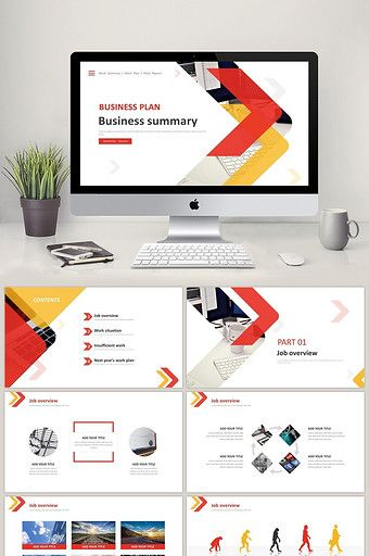 Red And Yellow Fashion Business Work Summary In The Second Half Of The Ppt Template Powerpoint Pptx Free Download Pikbest Ppt Template Design Powerpoint Presentation Design Business Card Template Psd