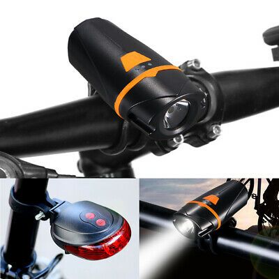 Details About Bicycle Front Light Bike Headlight Led Taillight Usb