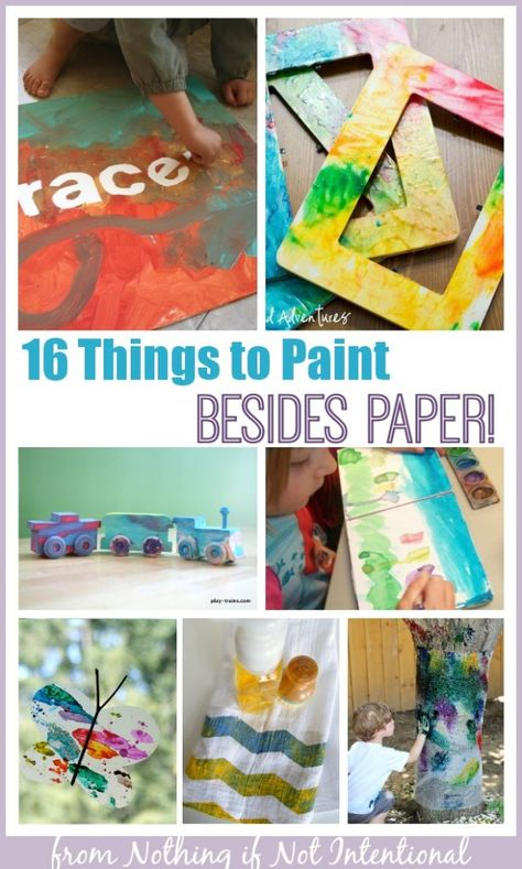 16 Things To Paint Besides Paper Drawing Videos For Kids Kids